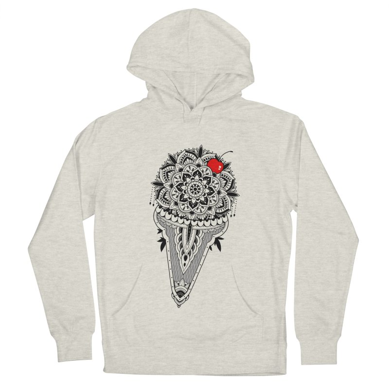 Sacred Ice Cream Men's French Terry Pullover Hoody by godzillarge's Artist Shop