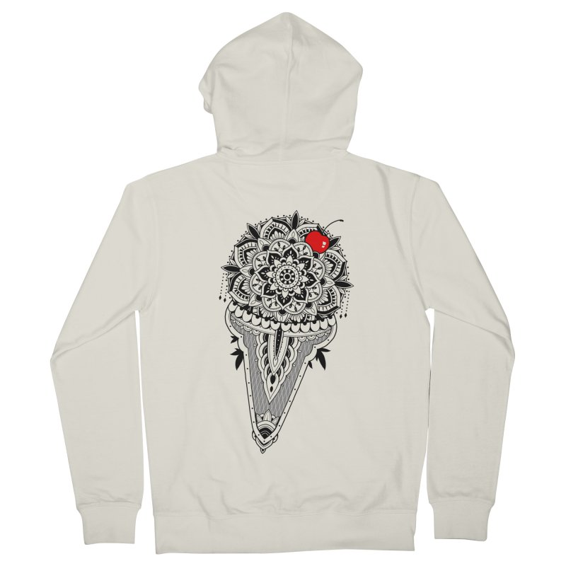 Sacred Ice Cream Men's French Terry Zip-Up Hoody by godzillarge's Artist Shop