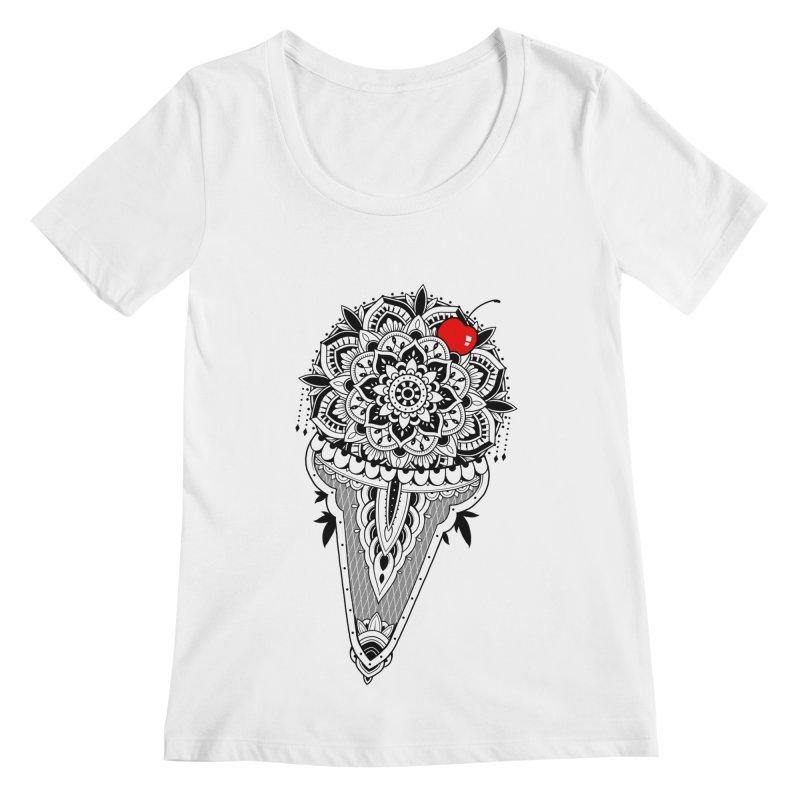 Sacred Ice Cream Women's Regular Scoop Neck by godzillarge's Artist Shop