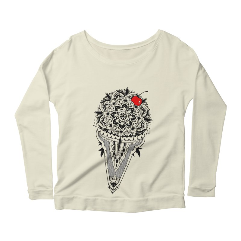 Sacred Ice Cream Women's Scoop Neck Longsleeve T-Shirt by godzillarge's Artist Shop