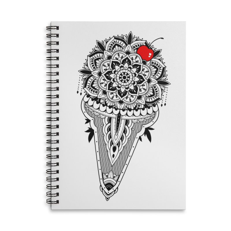 Sacred Ice Cream Accessories Lined Spiral Notebook by godzillarge's Artist Shop