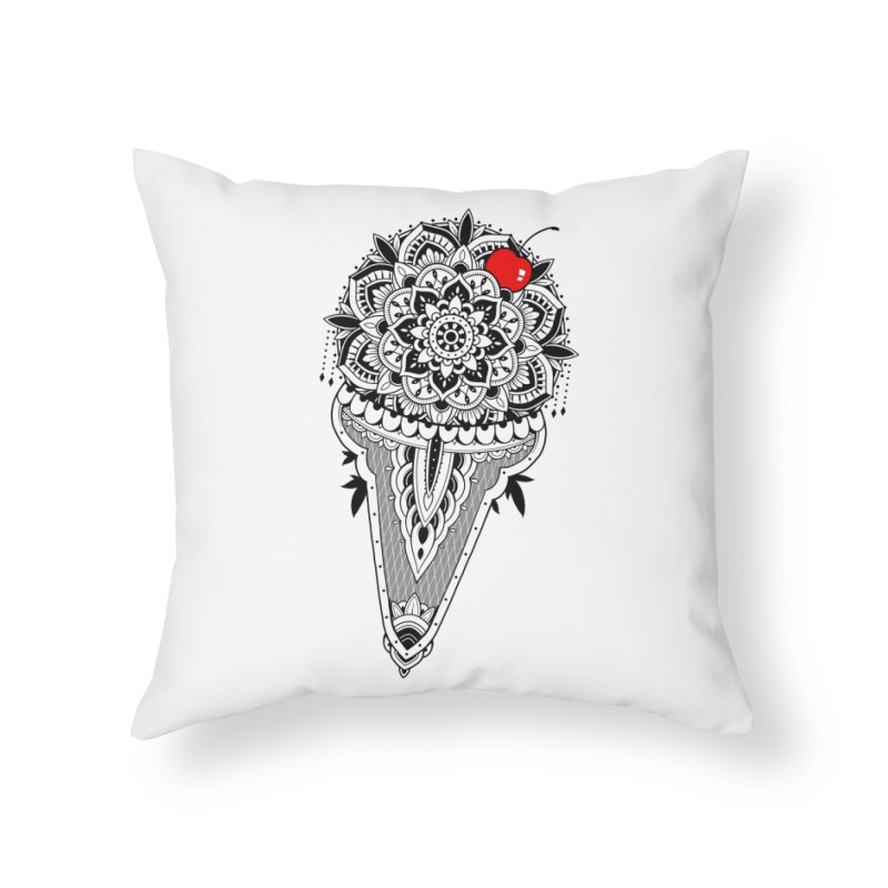 Sacred Ice Cream Home Throw Pillow by godzillarge's Artist Shop