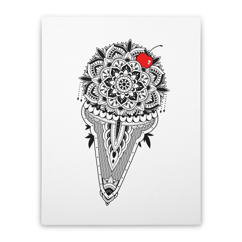 Sacred Ice Cream Home Stretched Canvas by godzillarge's Artist Shop