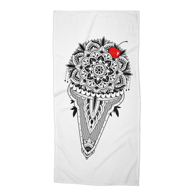 Sacred Ice Cream Accessories Beach Towel by godzillarge's Artist Shop