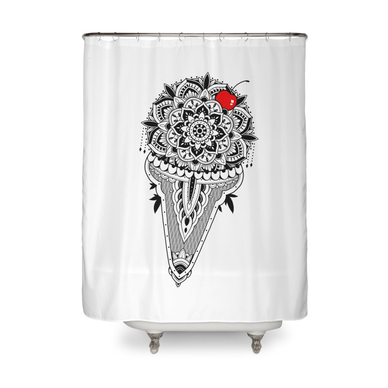 Sacred Ice Cream Home Shower Curtain by godzillarge's Artist Shop