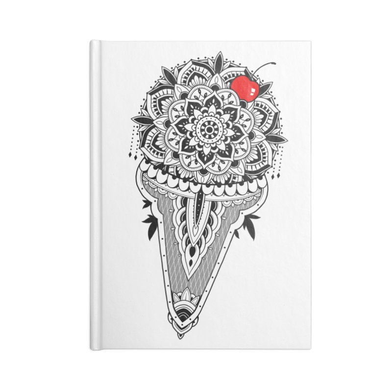Sacred Ice Cream Accessories Lined Journal Notebook by godzillarge's Artist Shop