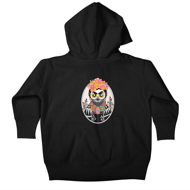 Self-Portrait Kids Baby Zip-Up Hoody by godzillarge's Artist Shop