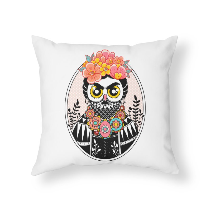 Self-Portrait Home Throw Pillow by godzillarge's Artist Shop