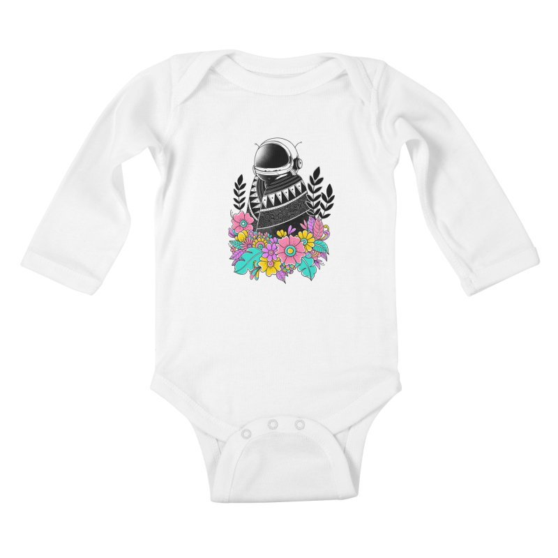 Botanical Space Kids Baby Longsleeve Bodysuit by godzillarge's Artist Shop