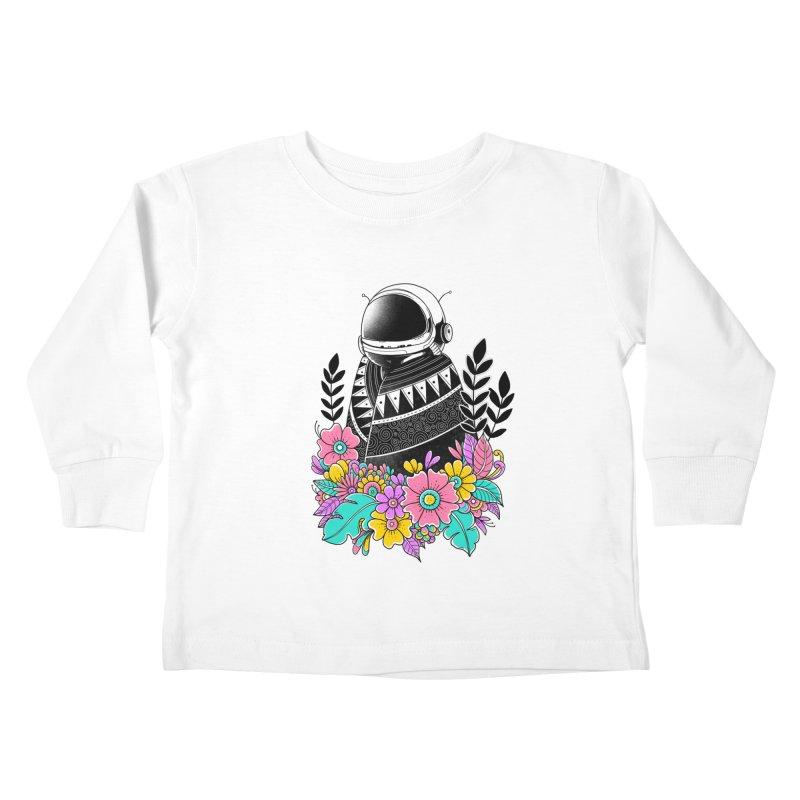 Botanical Space Kids Toddler Longsleeve T-Shirt by godzillarge's Artist Shop