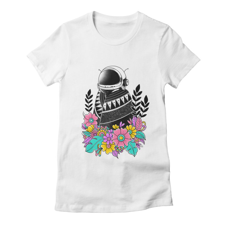 Botanical Space Women's Fitted T-Shirt by godzillarge's Artist Shop