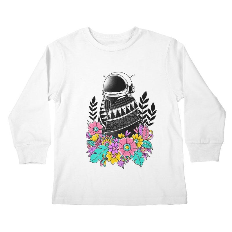 Botanical Space Kids Longsleeve T-Shirt by godzillarge's Artist Shop