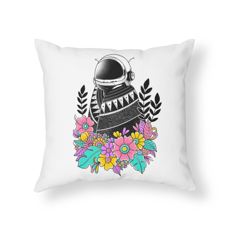 Botanical Space Home Throw Pillow by godzillarge's Artist Shop