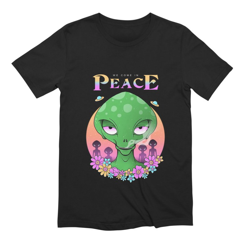 We Come in Peace Men's Extra Soft T-Shirt by godzillarge's Artist Shop