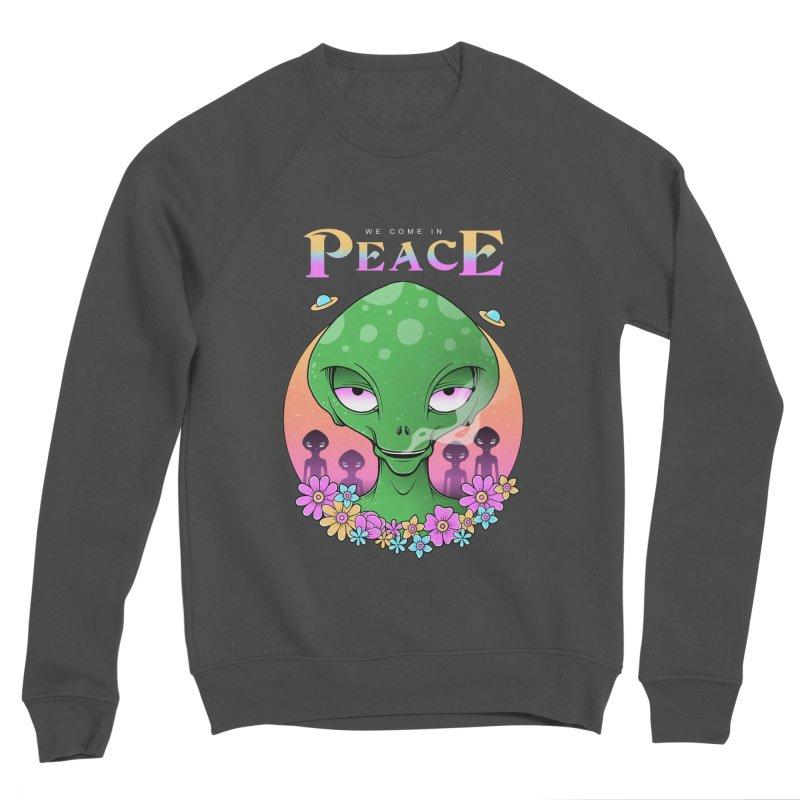 We Come in Peace Women's Sponge Fleece Sweatshirt by godzillarge's Artist Shop