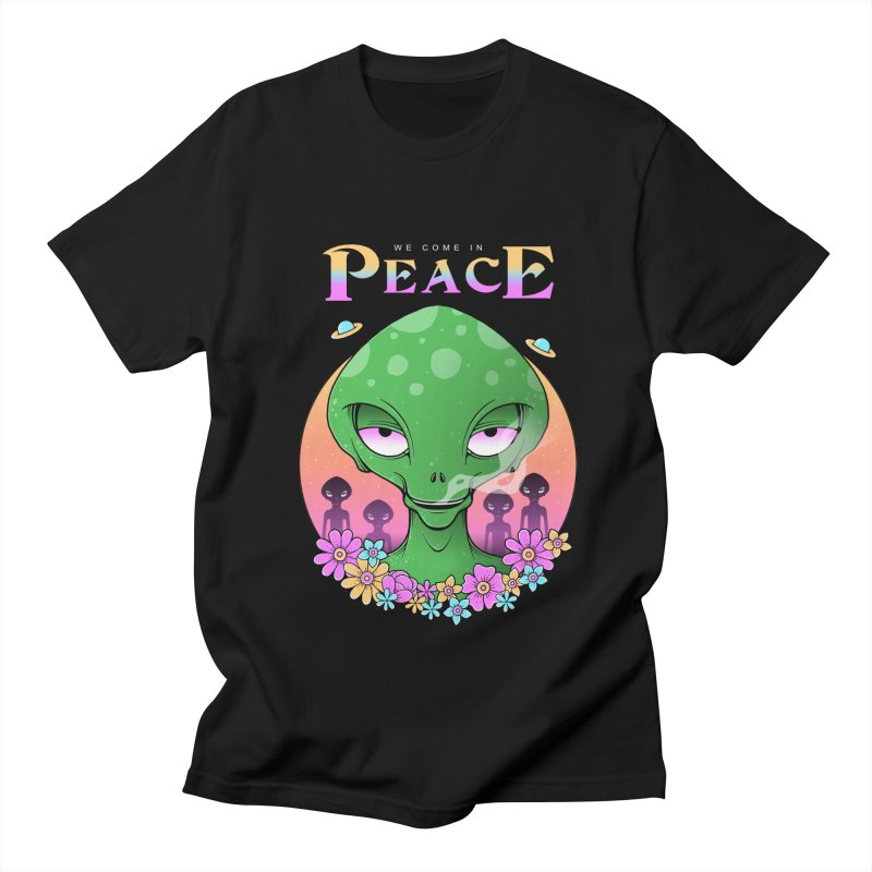 We Come in Peace Women's Regular Unisex T-Shirt by godzillarge's Artist Shop
