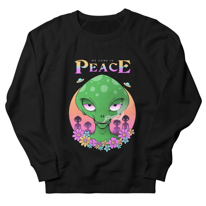 We Come in Peace Men's French Terry Sweatshirt by godzillarge's Artist Shop