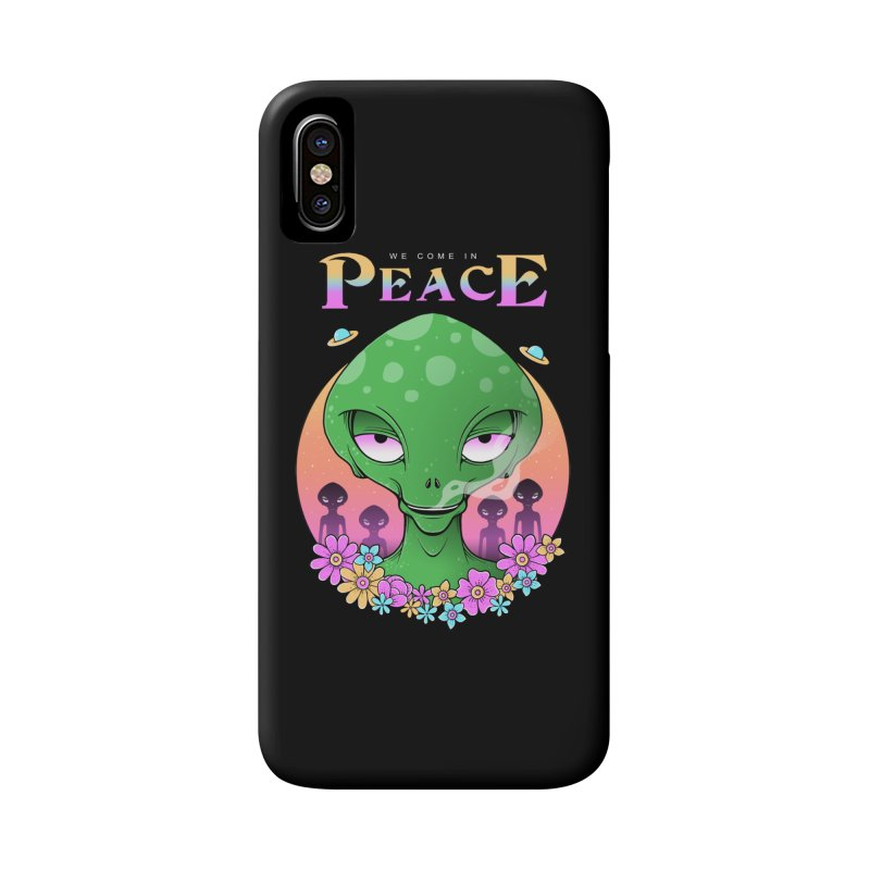 We Come in Peace Accessories Phone Case by godzillarge's Artist Shop