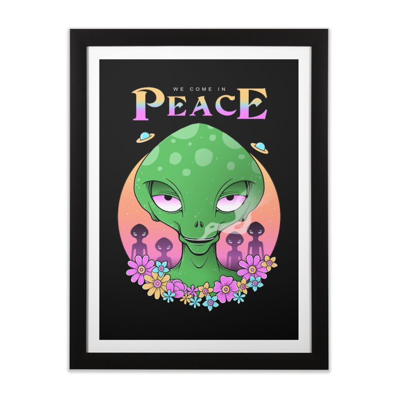 We Come in Peace Home Framed Fine Art Print by godzillarge's Artist Shop