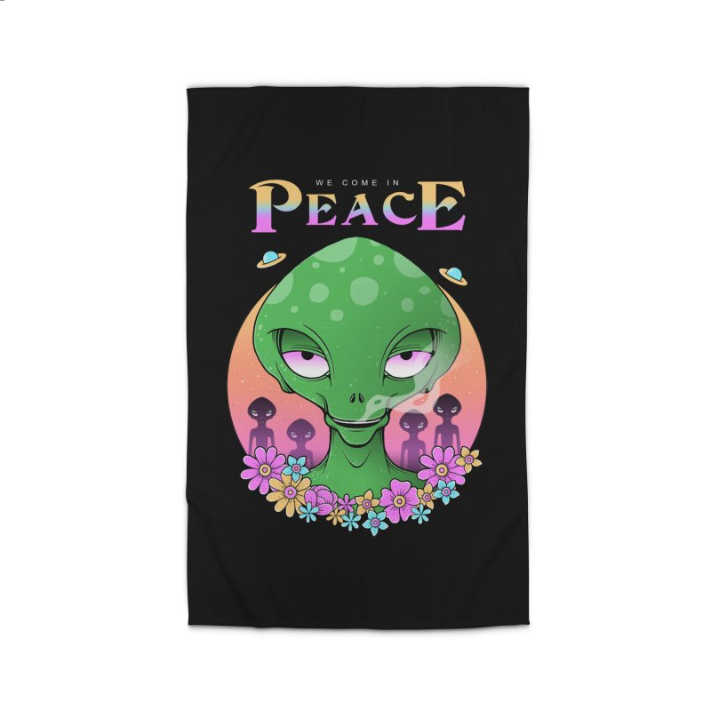 We Come in Peace Home Rug by godzillarge's Artist Shop