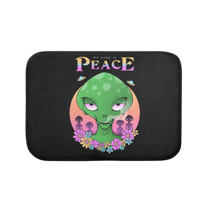 We Come in Peace Home Bath Mat by godzillarge's Artist Shop