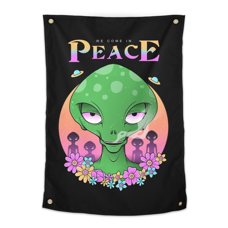 We Come in Peace Home Tapestry by godzillarge's Artist Shop