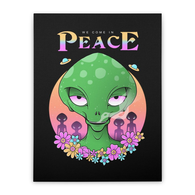 We Come in Peace Home Stretched Canvas by godzillarge's Artist Shop