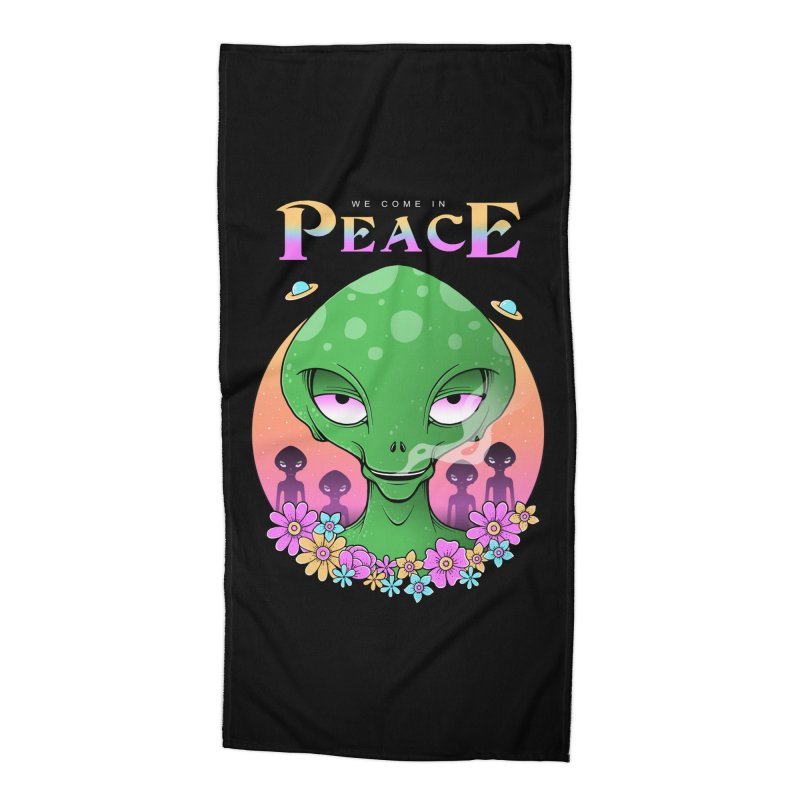 We Come in Peace Accessories Beach Towel by godzillarge's Artist Shop