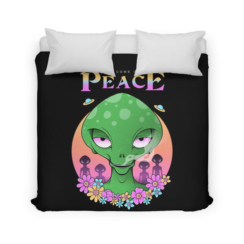 We Come in Peace Home Duvet by godzillarge's Artist Shop