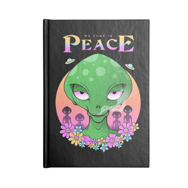 We Come in Peace Accessories Lined Journal Notebook by godzillarge's Artist Shop