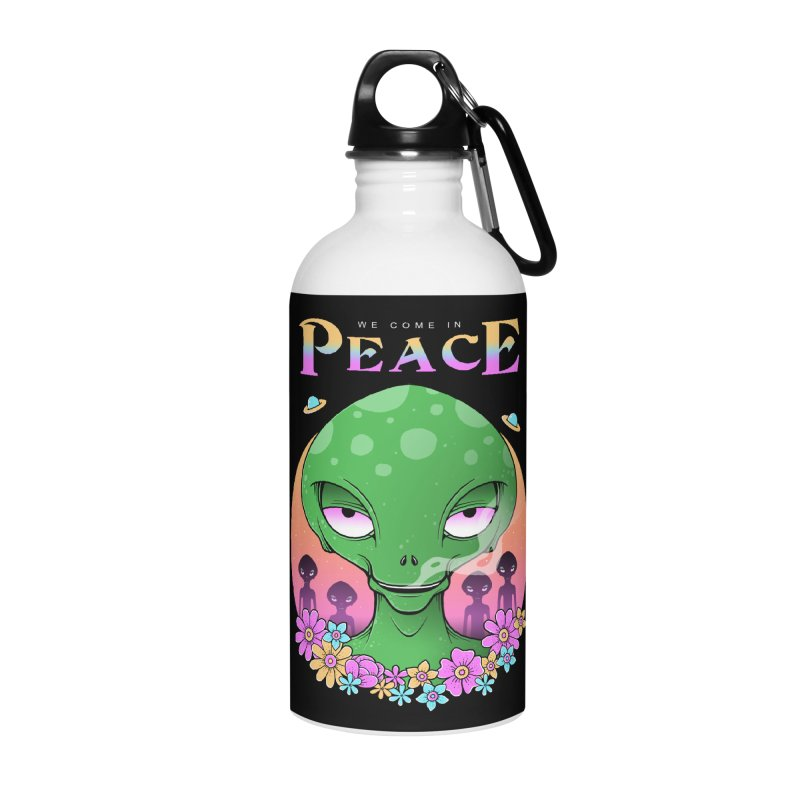 We Come in Peace Accessories Water Bottle by godzillarge's Artist Shop