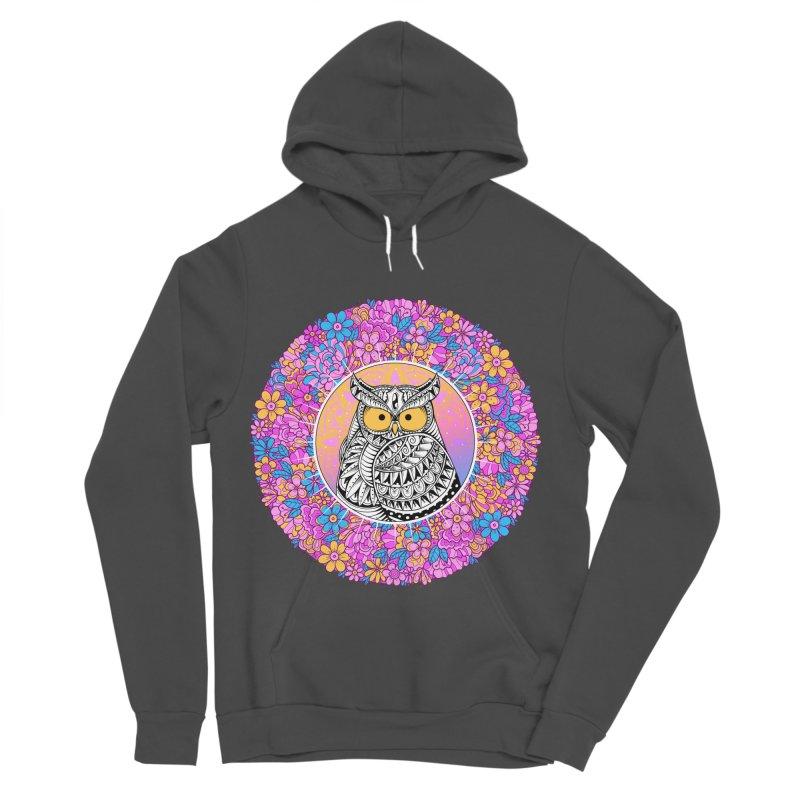 Spring Owl Women's Sponge Fleece Pullover Hoody by godzillarge's Artist Shop