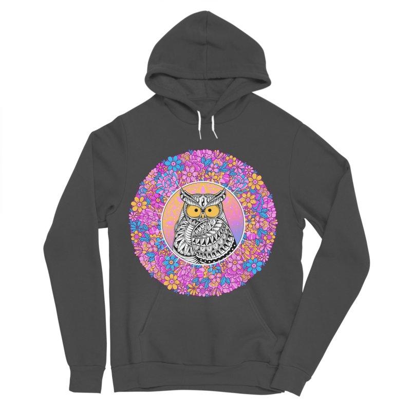 Spring Owl Men's Sponge Fleece Pullover Hoody by godzillarge's Artist Shop