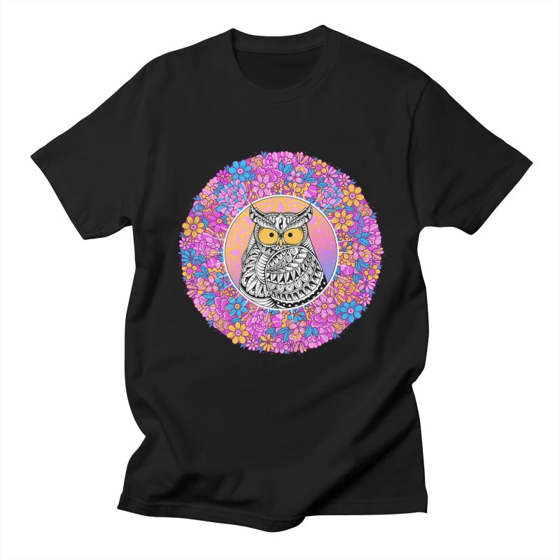 Spring Owl Women's Regular Unisex T-Shirt by godzillarge's Artist Shop