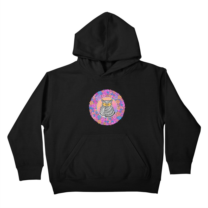 Spring Owl Kids Pullover Hoody by godzillarge's Artist Shop