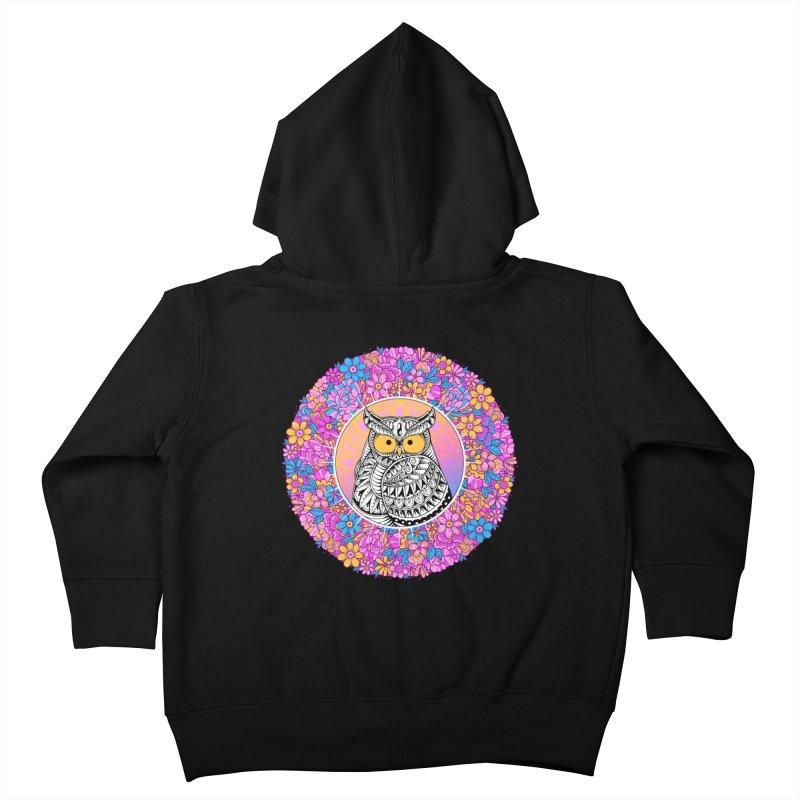 Spring Owl Kids Toddler Zip-Up Hoody by godzillarge's Artist Shop