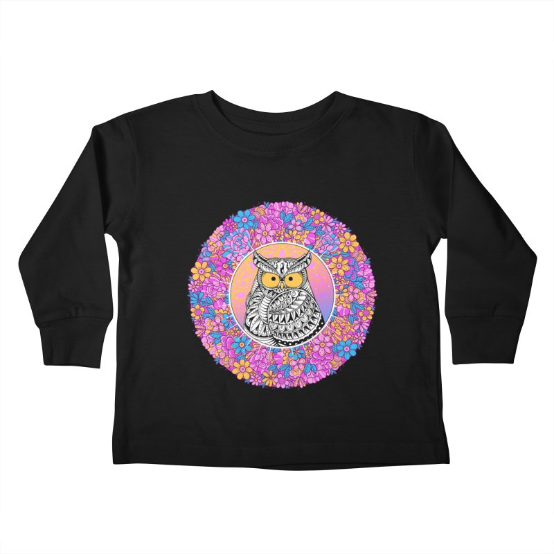 Spring Owl Kids Toddler Longsleeve T-Shirt by godzillarge's Artist Shop