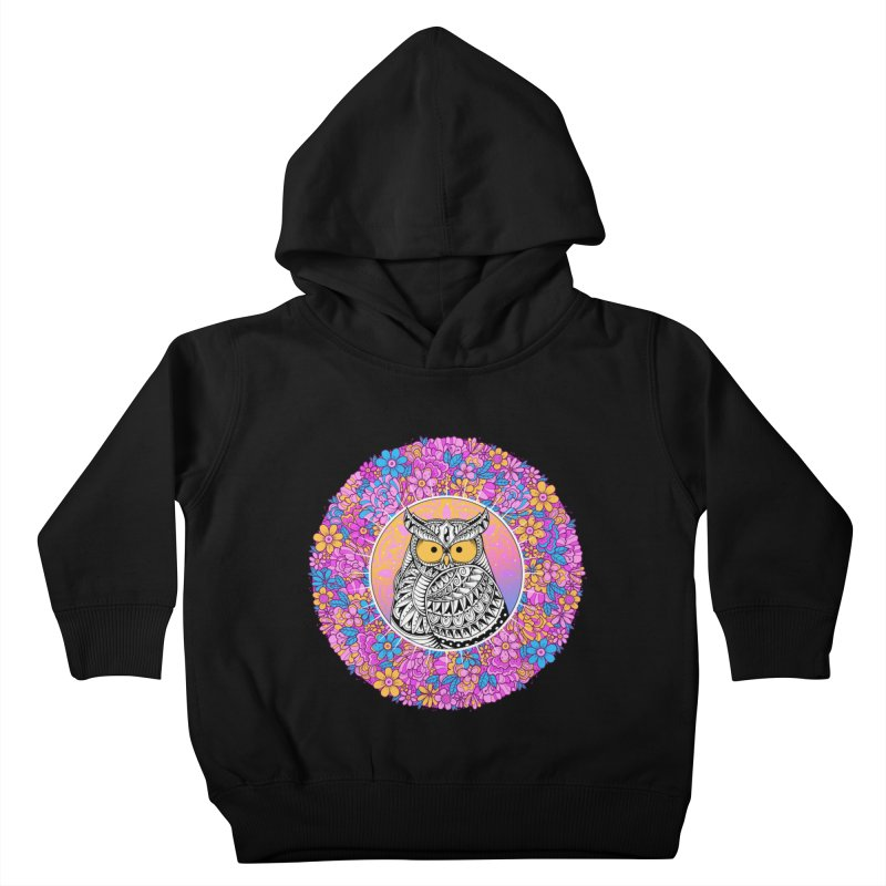 Spring Owl Kids Toddler Pullover Hoody by godzillarge's Artist Shop