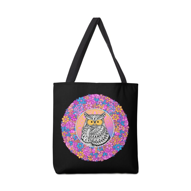 Spring Owl Accessories Tote Bag Bag by godzillarge's Artist Shop