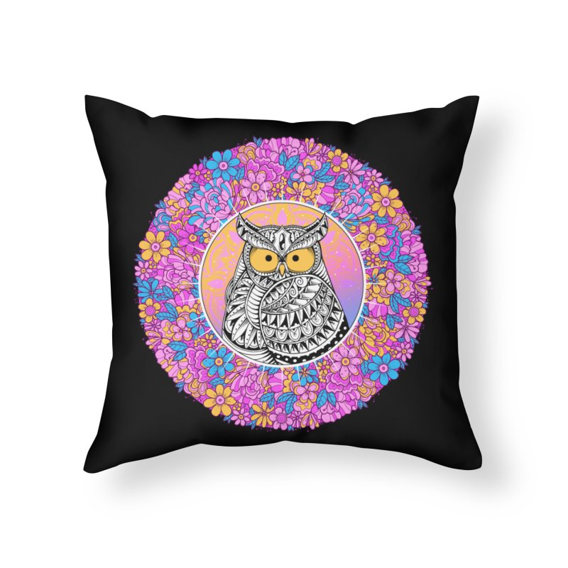 Spring Owl Home Throw Pillow by godzillarge's Artist Shop