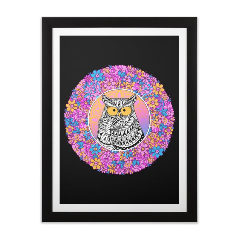 Spring Owl Home Framed Fine Art Print by godzillarge's Artist Shop