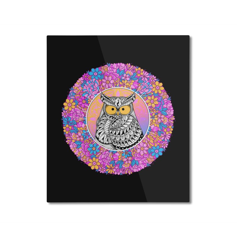 Spring Owl Home Mounted Aluminum Print by godzillarge's Artist Shop