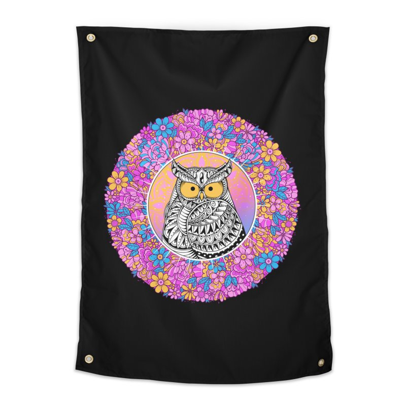 Spring Owl Home Tapestry by godzillarge's Artist Shop
