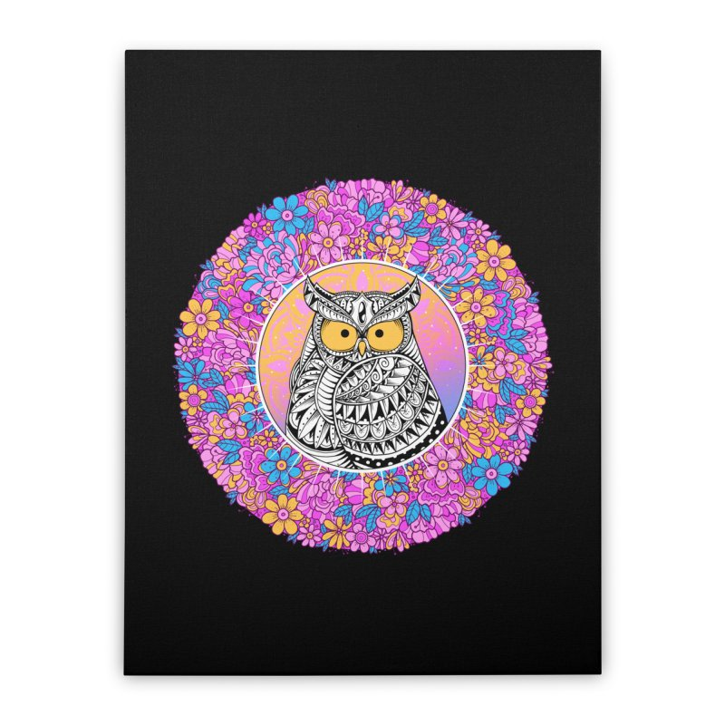 Spring Owl Home Stretched Canvas by godzillarge's Artist Shop