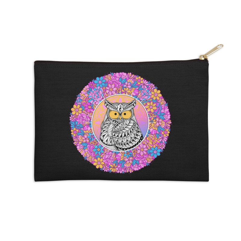Spring Owl Accessories Zip Pouch by godzillarge's Artist Shop