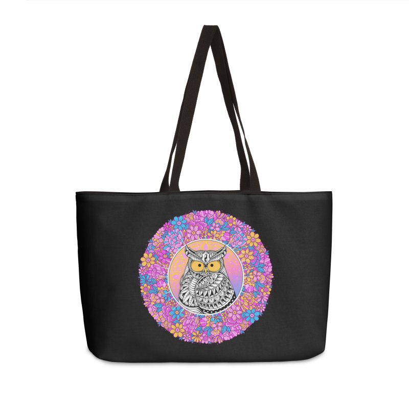 Spring Owl Accessories Weekender Bag Bag by godzillarge's Artist Shop