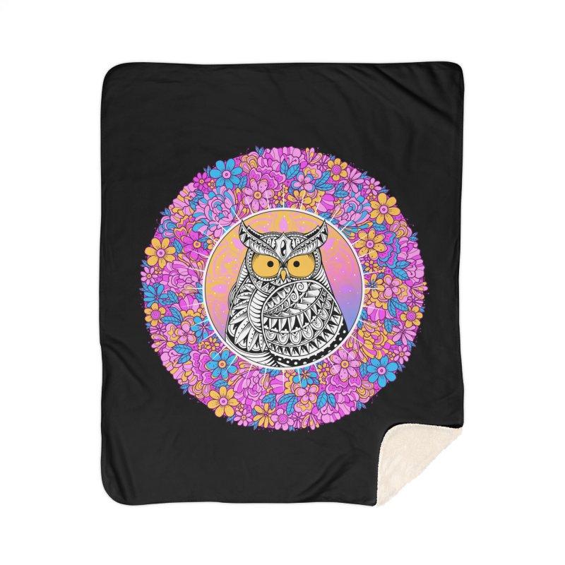 Spring Owl Home Sherpa Blanket Blanket by godzillarge's Artist Shop