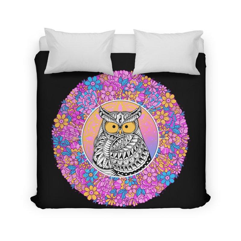 Spring Owl Home Duvet by godzillarge's Artist Shop