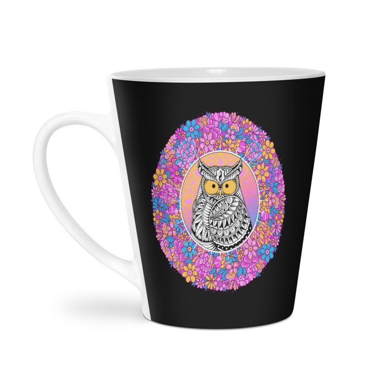 Spring Owl Accessories Latte Mug by godzillarge's Artist Shop