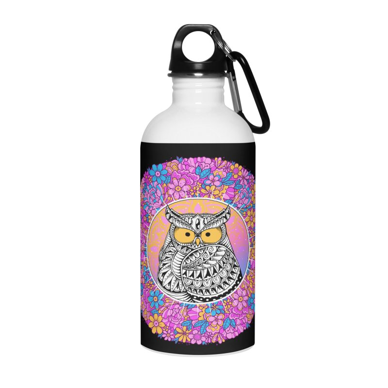 Spring Owl Accessories Water Bottle by godzillarge's Artist Shop